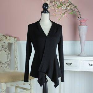 89Th & Madison Black Cardigan Size M